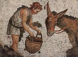 Fiaba 58 – Il leone, il lupo, la volpe e l'asino   (O liuna, o liko, e alipuna ce o ciùccio)
